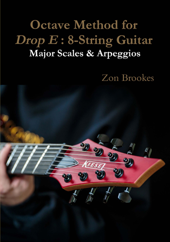 Octave Method for Drop E: 8-String Guitar Paper Book